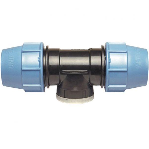 "KPE T-idom BM 32mm x 3/4"" - Belső menetes - 5db-os csomag"