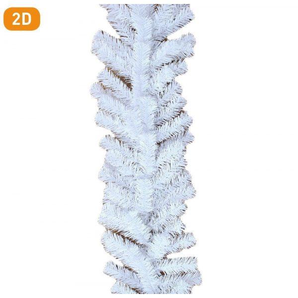 Girland dús fehér dekoráció 270cm