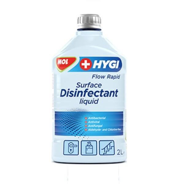 MOL Tisztító Folyadék Hygi Flow Rapid Alkoholos Felület (Fertőtlenítő 2000 ml)