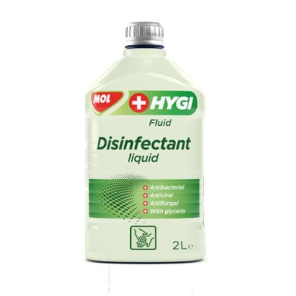 MOL Tisztító Folyadék Hygi Fluid Alkoholos Kéz (Fertőtlenítő 2000 ml)