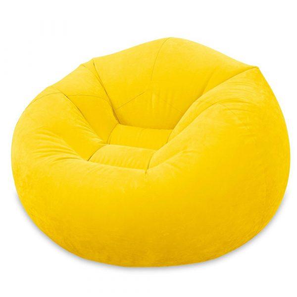 INTEX Beanless Felfújható Fotel Sárga 107x104x69cm (68569)