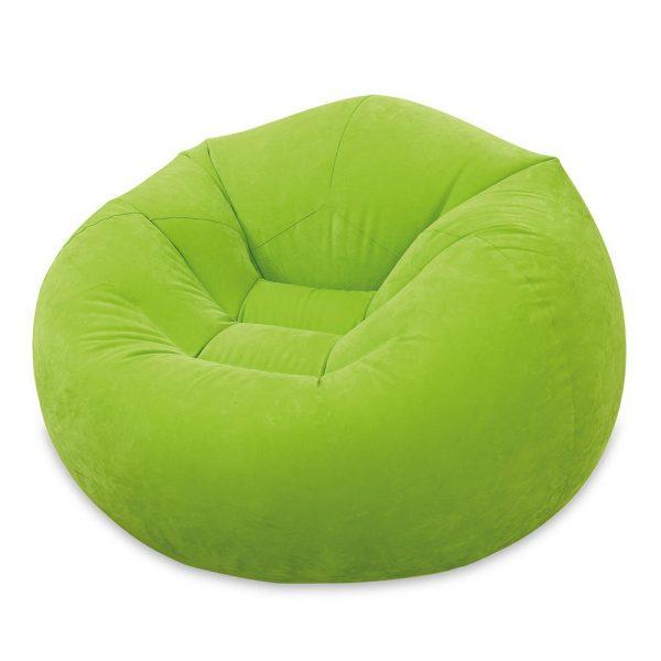 INTEX Beanless Felfújható Fotel Zöld 107x104x69cm (68569)
